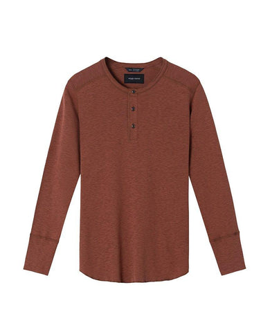 1x1 Slub Long Sleeve Henley Clay