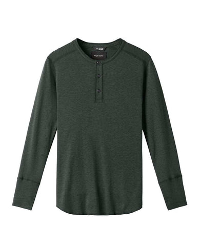 1x1 Slub Long Sleeve Henley Pine