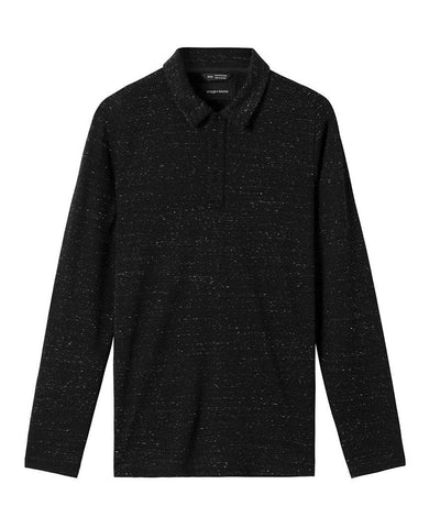 Signals Long Sleeve Polo Static Black