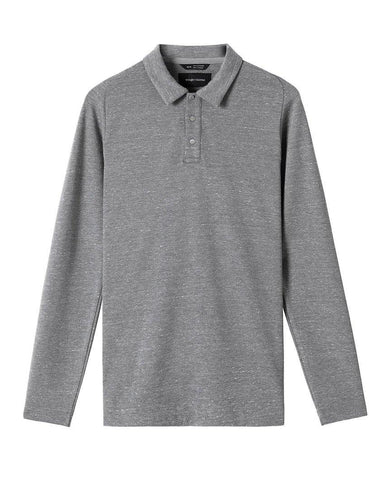 Signals Long Sleeve Polo Static Grey