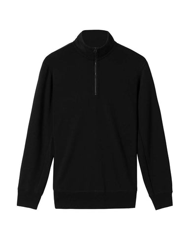 Merino Half Zip Black
