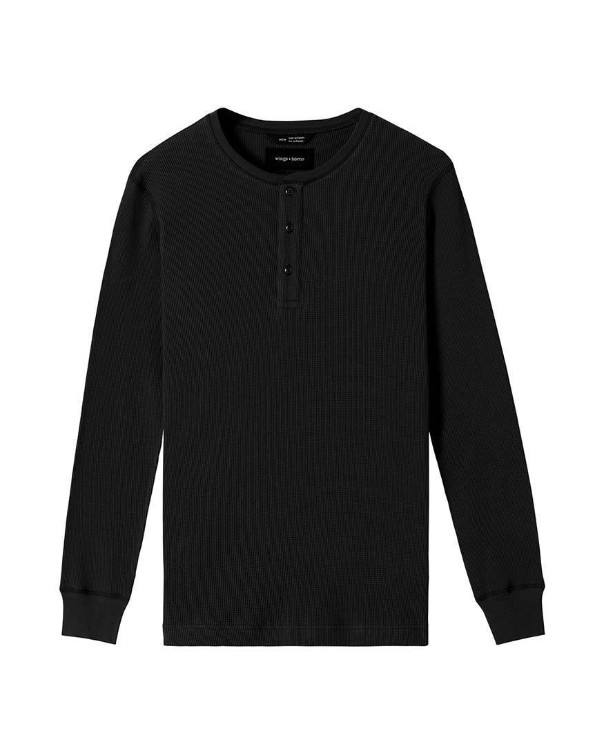 Thermal Henley Black