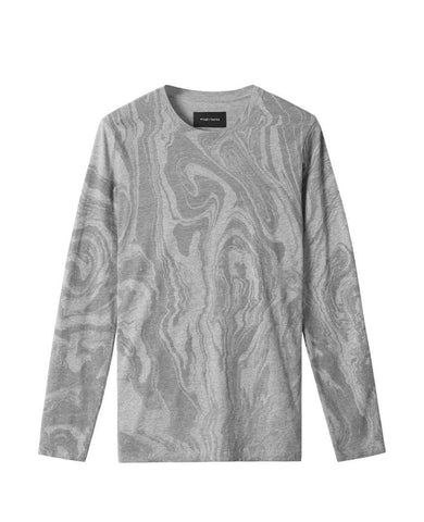 Vertical Dye Long Sleeve Heather Grey