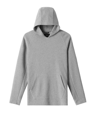 Flatback Waffle Hooded Pullover Heather Grey