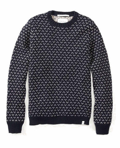 Wool Jackson Crew Neck Sweater Navy