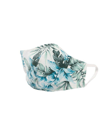 Protection Face Mask - Tropical Print White