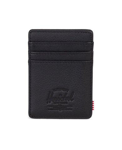 Raven Wallet Black Pebbled Leather