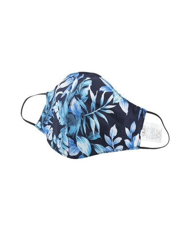 Protection Face Mask - Tropical Print Navy