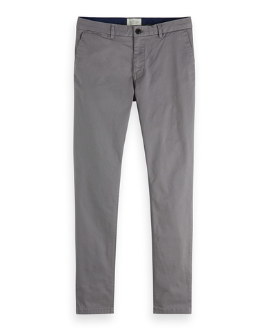 Stuart Stretch Cotton Chinos Regular Slim Fit  Grey