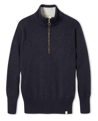 Bond Zip Neck Navy