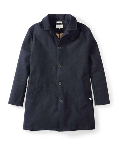 Bonded Wool Mac Navy