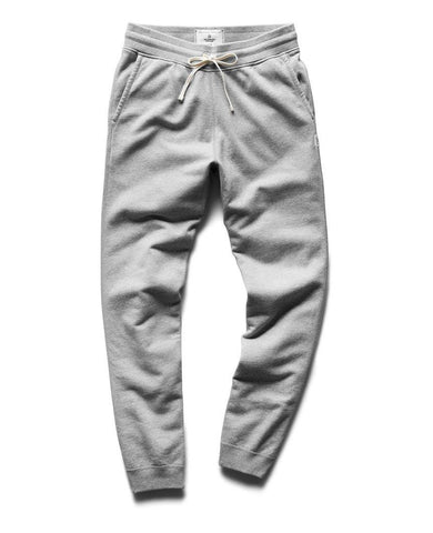 Midweight Terry Slim Sweatpant Heather Grey