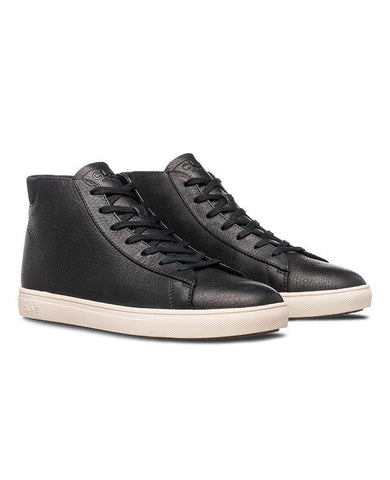 Bradley Mid Black Pebbled Leather