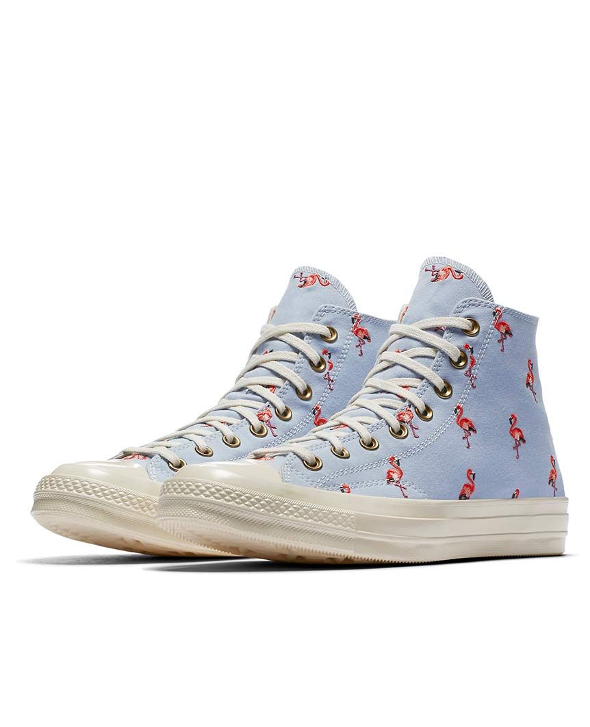 Chuck 70 Prep Embroidery High Top Blue Chill