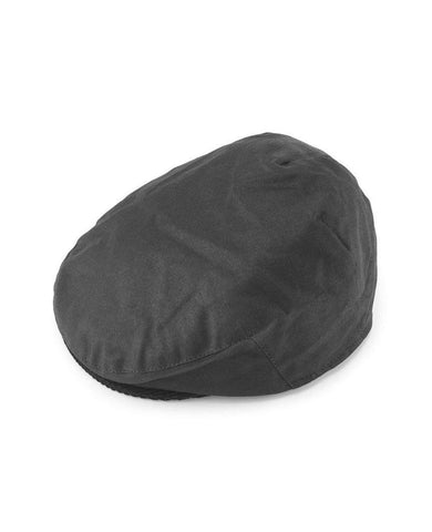 Wax Flat Cap  Black
