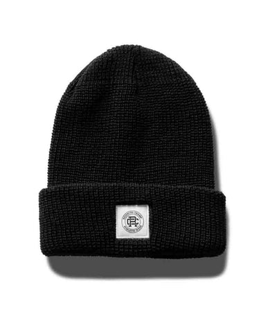 Merino Crest Label Beanie Black