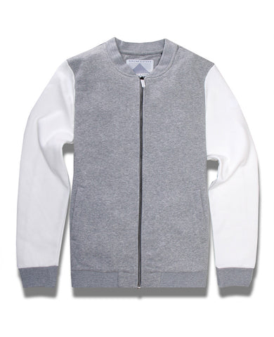 Felpa Bomber Sweater  Cream/Grey