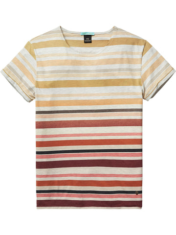 Striped T-Shirt  Natural Red