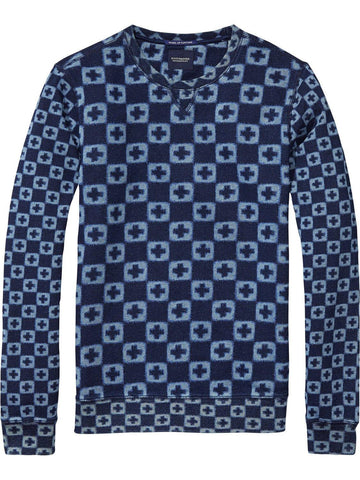 All-Over Printed Sweater Navy