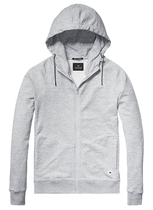 Sweat Zip-Through Hoodie Grey Melange