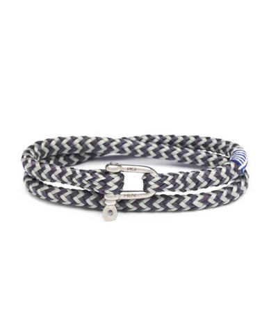Salty Slim 4mm Round Rope Slate Gray Light Gray Silver