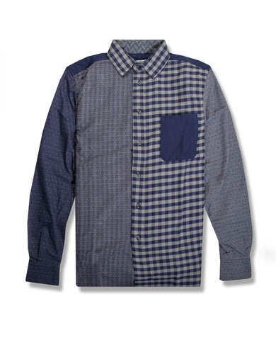 Patchwork Shirt Grey