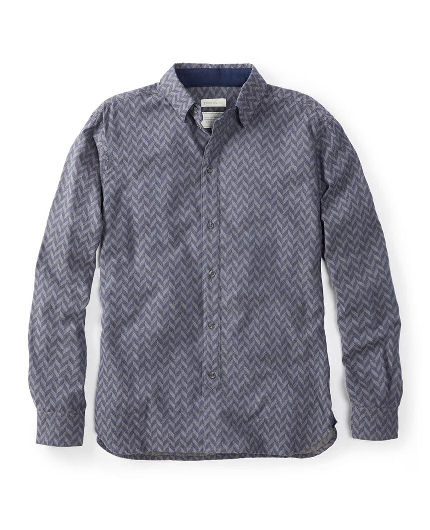 Herringbone Shirt Grey