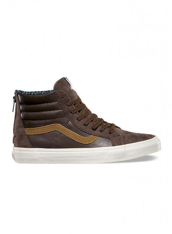 Sk8-Hi Zip CA Leather Nubuck Brown Coffee