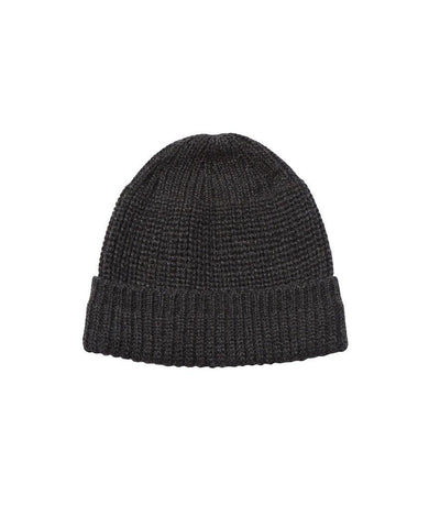 Machine Knit Watch Cap Charcoal