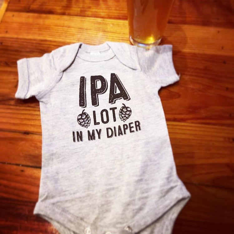 IPA Lot in my Diaper Onesie