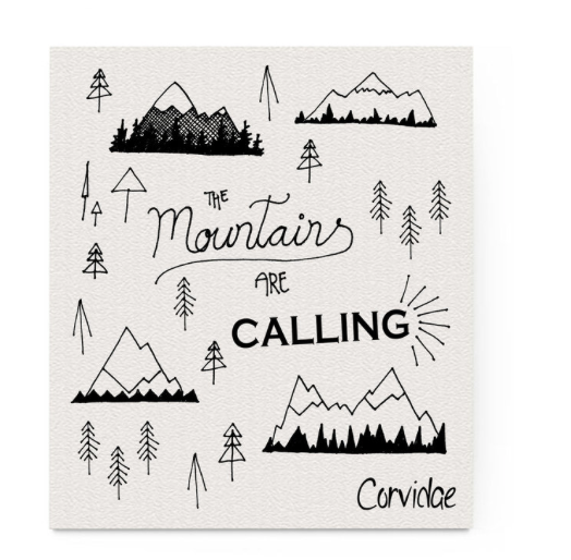 Mountains are Calling Compostable Swedish Dishcloth