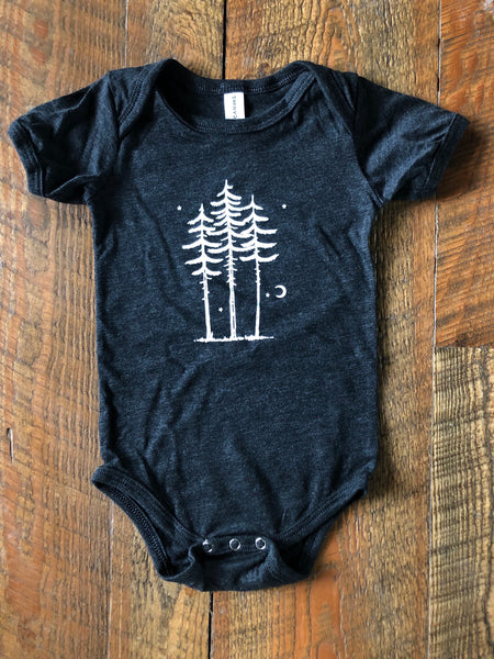 Three Trees Onesie