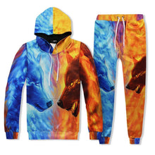 Load image into Gallery viewer, Casual Mens Tracksuit Set Wolf 3D Print Suit