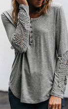 Load image into Gallery viewer, Lace Long Sleeve Top