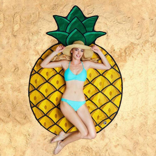 2018 Fashion Pineapple Print Beach Towel