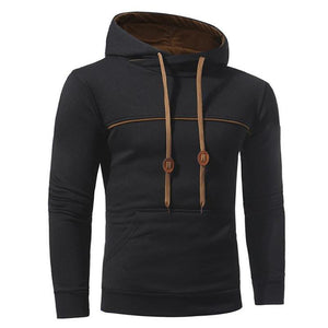 Fashion Casual Sport Slim Plain Long Sleeve Hoodie