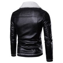 Load image into Gallery viewer, Fashion Cool Leather Lamb Woolen Thicken Coat
