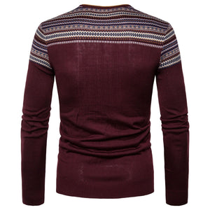 Fashion Mens V-Neck Knit Sweaters