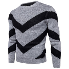 Load image into Gallery viewer, Fashion Mens Round Neck Sweater Jacket