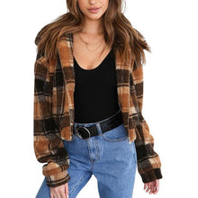Load image into Gallery viewer, Winter Plush Plaid Jacket