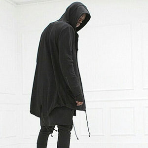 Men's Sweater Long Hooded Cloak Casual Jacket