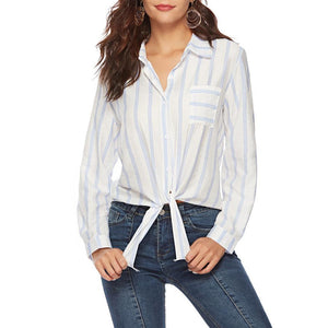 Long Sleeve Striped Casual Shirt