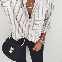 Load image into Gallery viewer, Long Sleeve Striped Casual Shirt
