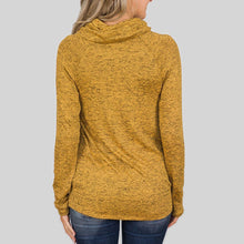 Load image into Gallery viewer, Solid Color Button High Collar Sweatershirt