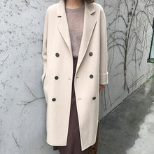 Load image into Gallery viewer, New Mid-Length Double-Sided Cashmere Woolen Coat