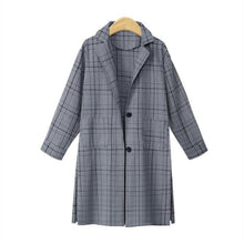Load image into Gallery viewer, Autumn/Winter New Plaid Mid-Length Coat