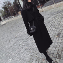 Load image into Gallery viewer, New Lace-Up Loose Woolen Long Coat