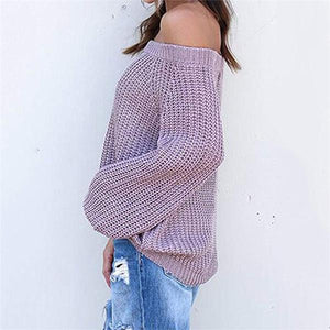 Off-The-Shoulder Fashion Sweater