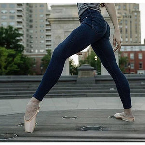 Super Soft High-Waisted Slim   Jeans With Hip Stretch