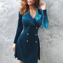 Load image into Gallery viewer, Velvet Small Suit Jacket Dress